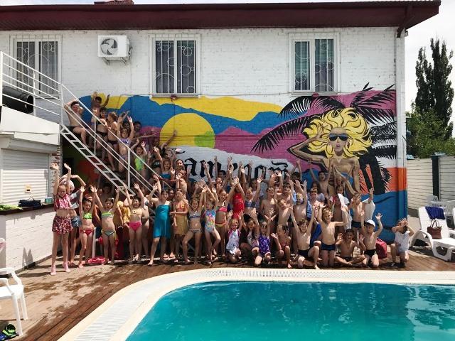 на базе МБОУ СОШ 10 имени А. А. Забары посетили бассейн «Камелот-аква»
